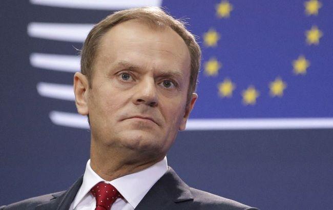 Фото: глава Евросовета Дональд Туск