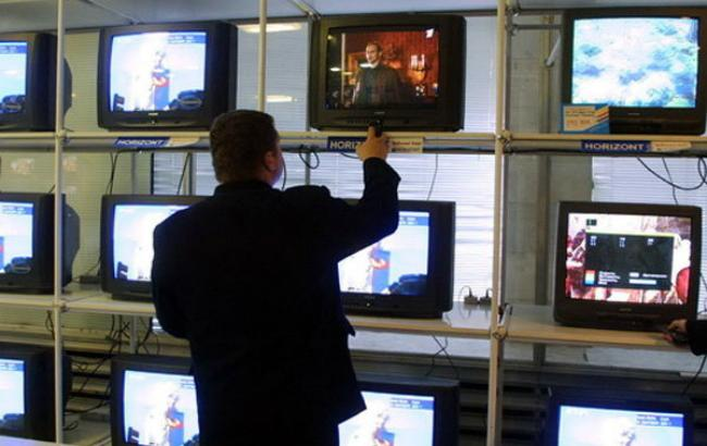 Фото: телевещание на оккупированных территориях Украины