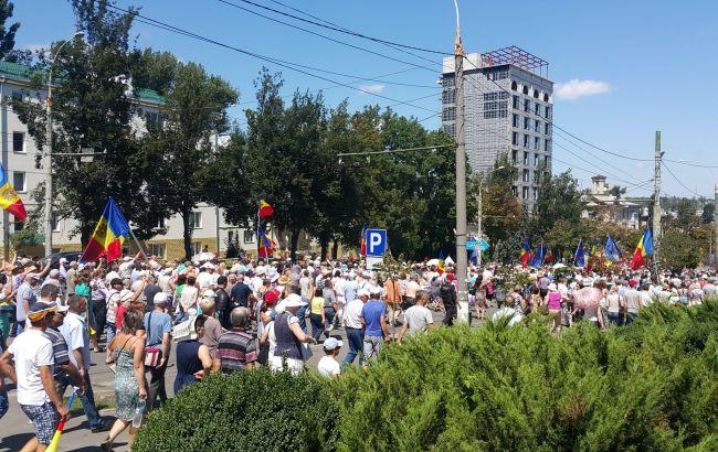 Фото: протести в Молдові (twitter.com DonnachaDCU)