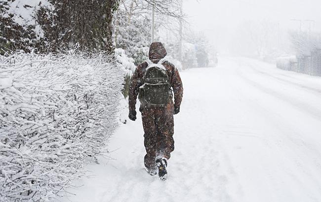 Фото: снігопад у Франції (twitter.com edp24.co.uk)
