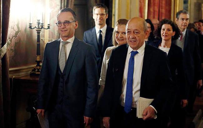 Главы МИД Франции и Германии анонсировали совместный визит в Украину