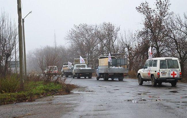 Красный Крест отправил на оккупированный Донбасс партию гумпомощи