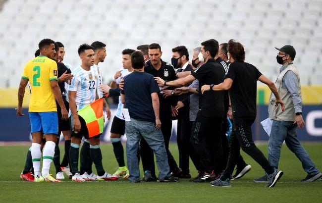 Примет дисциплинарные меры: ФИФА прокомментировала хаос во время матча Бразилия-Аргентина
