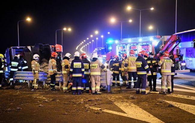 У Польщі померла українка, яка у березні постраждала в аварії автобуса