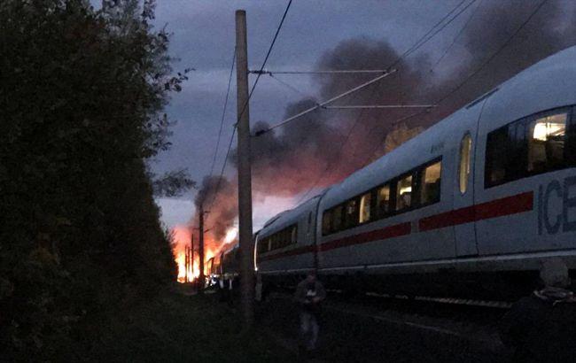 Фото: пожежа в поїзді (twitter.com/UteLange)