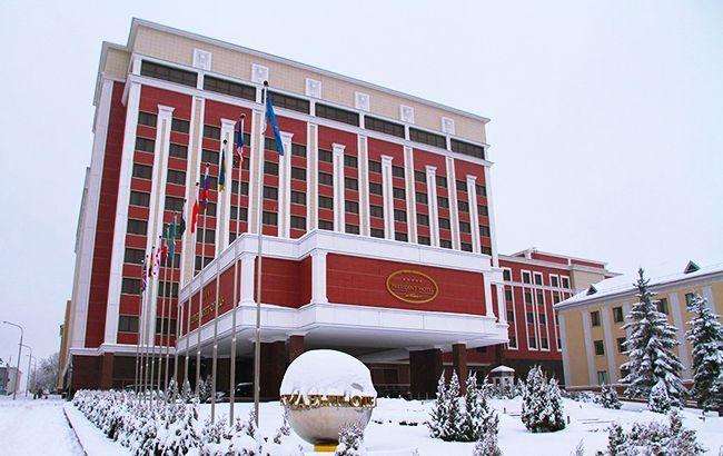 Фото: здание заседания ТКГ (twitter.com zelenskaaira10)