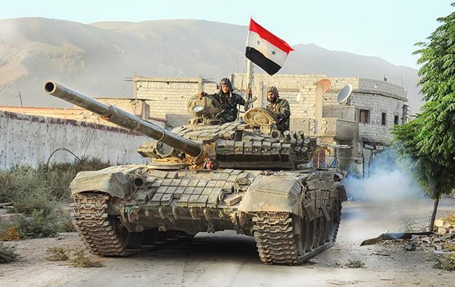 Фото: сирійський танк (twitter.combellingcat)