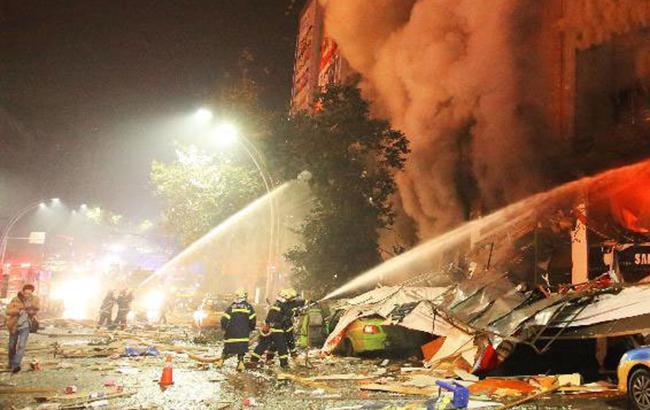 Фото: вибух на газопроводі (twitter.comPDChina)