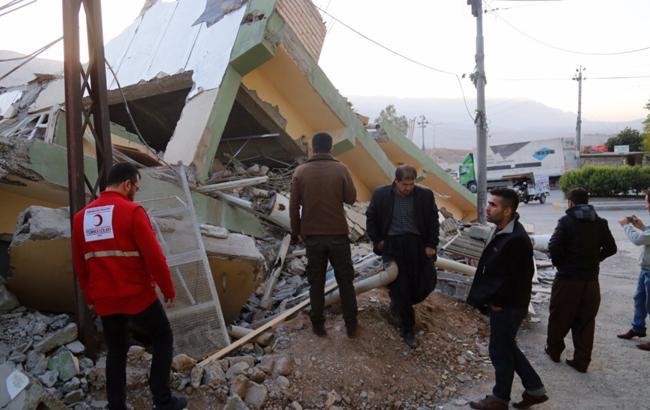 Фото: землетрясение (Twitter/RudawEnglish)