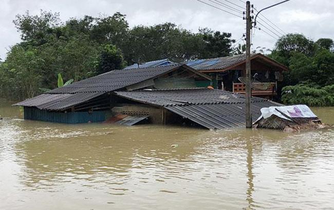 Фото: наводнение (Twitter/Thai_News_JP)