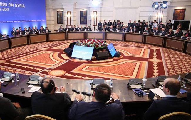 Фото: переговоры в Астане (twitter V00D00web)
