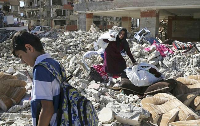 Фото: землетрясение (Twitter/@Taheri_Movement)