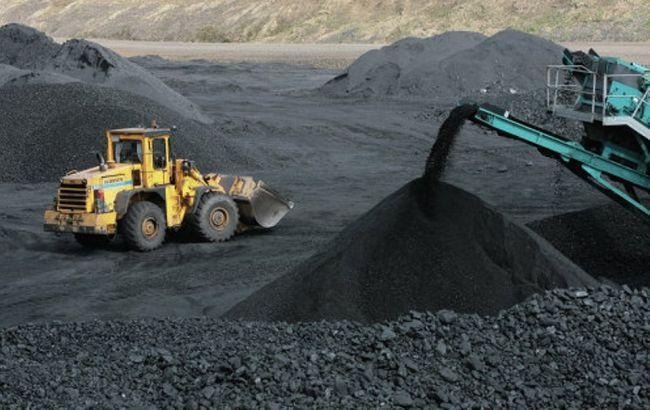 Фото: добыча угля в Украине