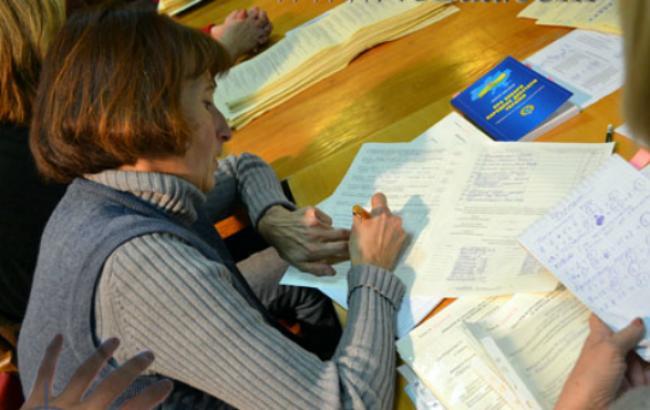 Фото (482ua): оформление протокола голосования на участковых избирательных комиссиях