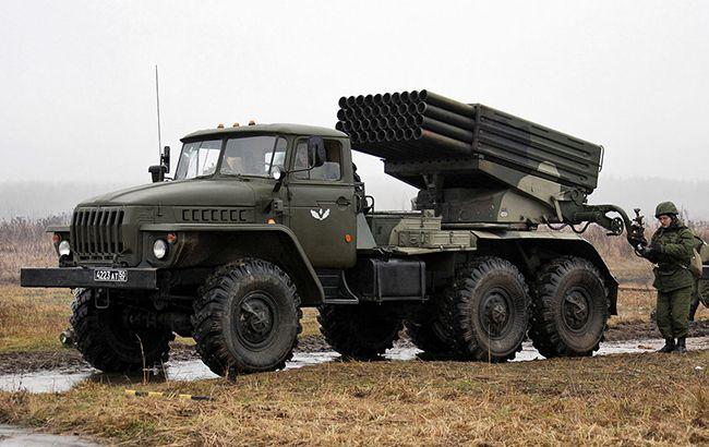 На Донбасі бойовики обладнали приховані позиції реактивних систем залпового вогню, - ГУР