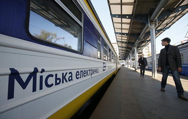 У Києві пассажири блокували міську електричку