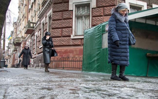 Фото: гололедица (Александр Гіманов, УНИАН)