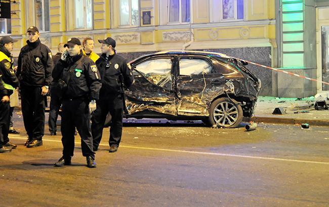 ВКиеве набульваре Шевченко произошло масштабное ДТП