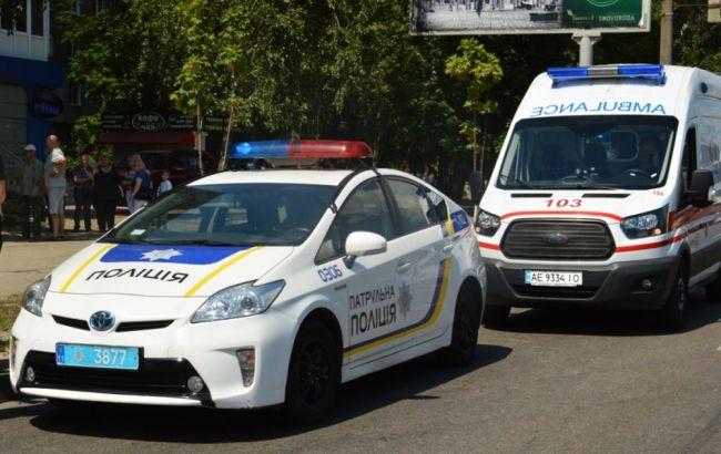 В Киеве из-за конфликта на дороге мотоциклист стрелял в водителя автобуса