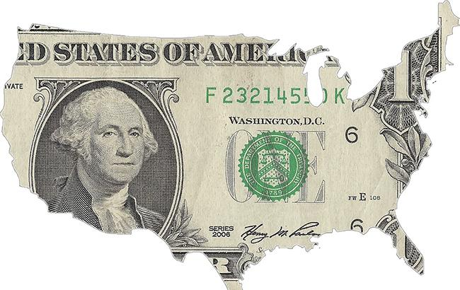 Курс доллара на межбанке в 10:30 понизился до 26,74 грн/доллар