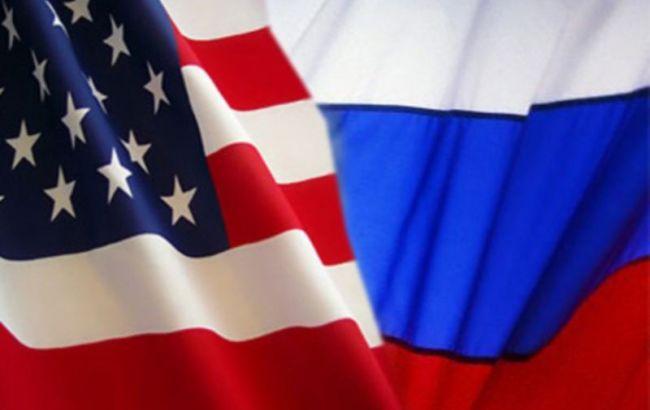 Фото: флаги США и РФ