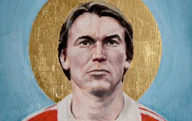 Фото: Портрет Блохіна у вигляді ікони (obozrevatel.com)