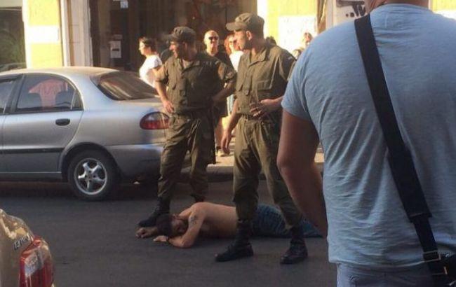 Фото: бійка фанатів в Одесі