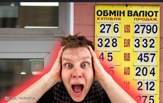 Фото: аналітики прогнозують ризики для курсу гривні до кінця року (колаж РБК-Україна)