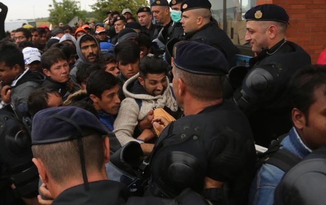 Фото: В Хорватии мигранты подрались с полицией