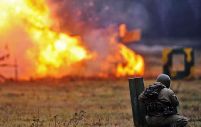 Фото: военные подорвались в ходе учений на полигоне