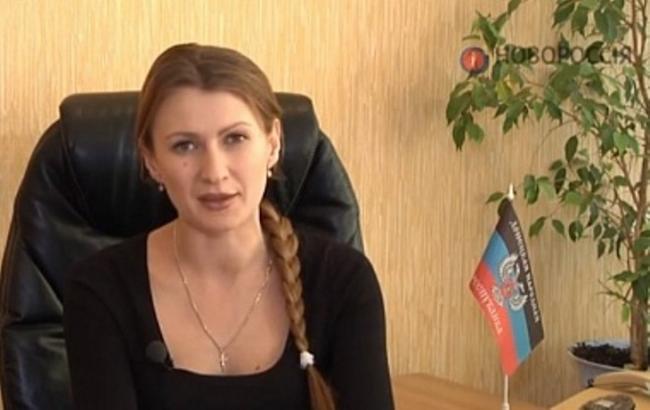 "Фото6 ""уповноважена з прав людини в ДНР"" Дар'я Морозова"