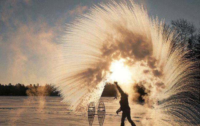 Американці показали незвичайний ефект від лютих морозів: яскраве відео