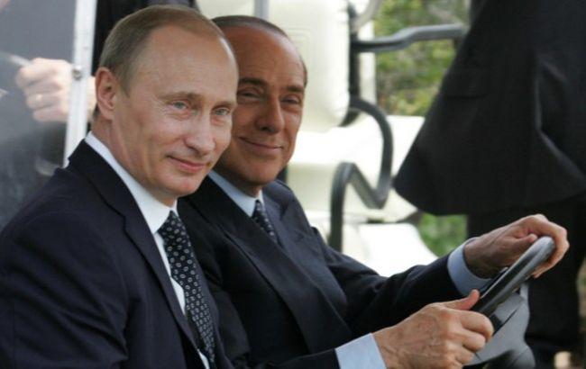 Фото: Володимир Путін і Сильвіо Берлусконі