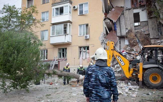Фото: взрыв дома в Волгограде
