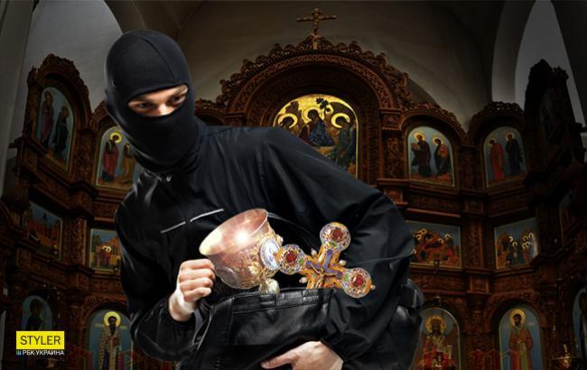 Фото: Ограбление церкви (Коллаж РБК-Украина)