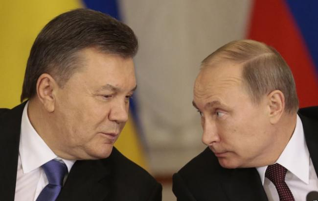 Фото: Виктор Янукович и Владимир Путин