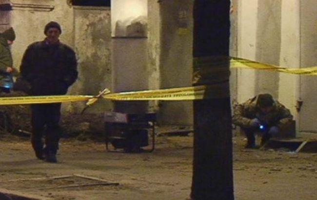 Фото: место взрыва оцеплено полицией