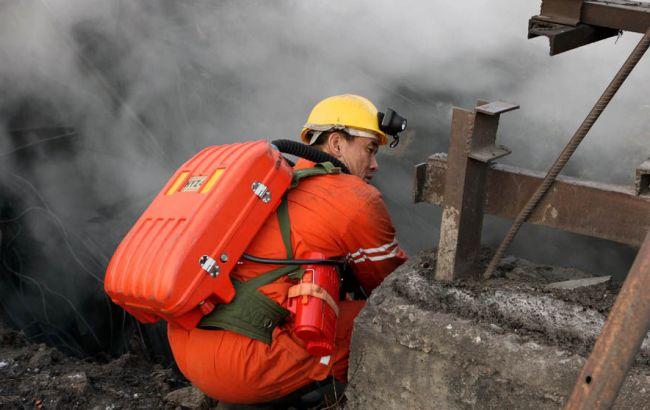 Фото: в Китае на известняковой шахте произошел пожар