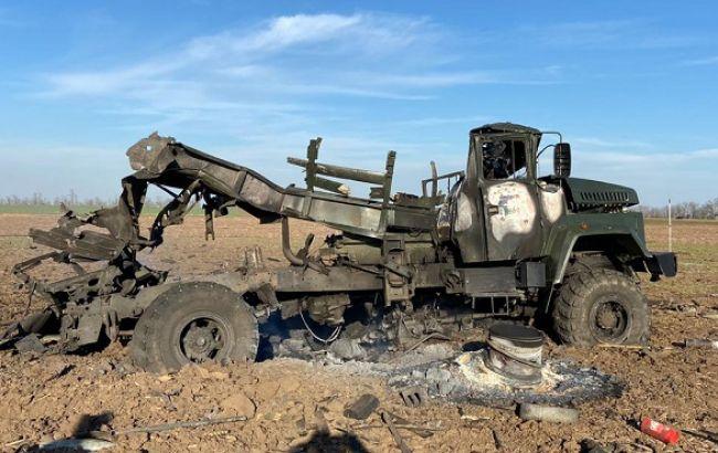 В Херсонской области взорвалась военная машина