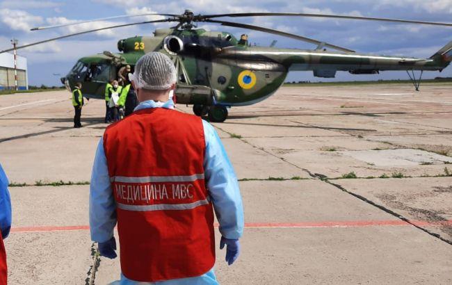 Постраждалих від вибуху міни поліцейських вертольотом відправили в Дніпро