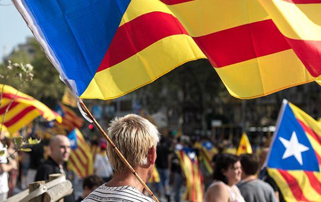 Фото: акції протесту в Каталонії (wikimedia.org Ivan McClellan)