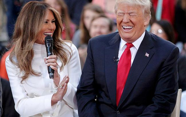Фото: Дональд и Мелания Трамп (elle.ru)