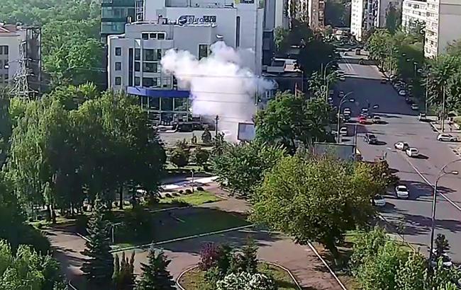 Фото: вибух автомобіля в Києві (youtube.com-Infotech LTD)