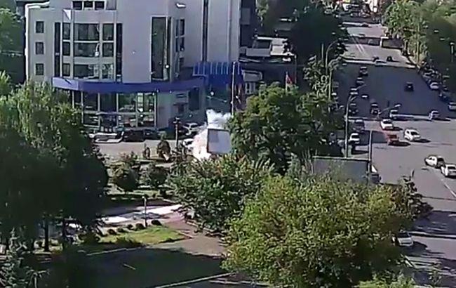 Фото: взрыв автомобиля (youtube.com-Infotech LTD)