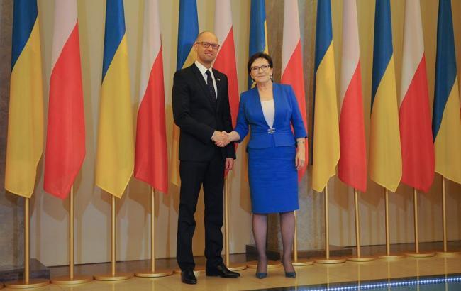 Фото: Арсеній Яценюк і Єва Копач