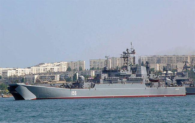 Біля берегів Греції суховантаж зіткнувся з російським десантним кораблем