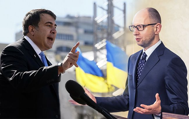 Противостояние Саакашвили и Яценюка пока обходится без прямого вмешательства Порошенко
