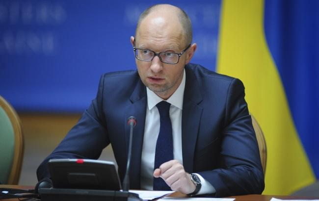 Фото: премьер Украины Арсений Яценюк