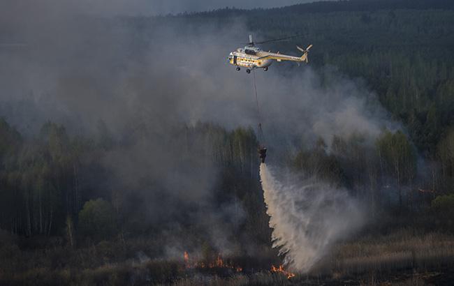 Фото: пожежа в зоні відчуження (yatsenyuk.org.ua)