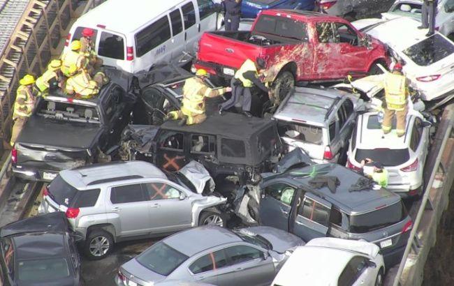 ДТП в США с 69 автомобилями: пострадали более полусотни людей